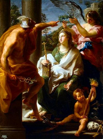 Ethics - Pompeo Batoni - Mercury Crowning Philosophy, Mother of the Arts